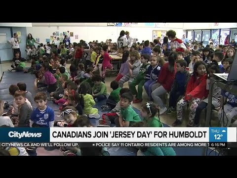 Canadians show their support for Humboldt with 'Jersey Day'