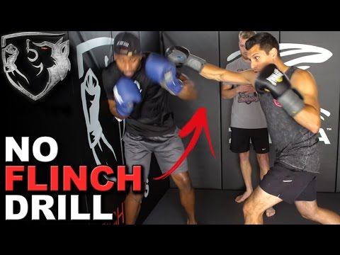 """""""No Flinch"""" Boxing Drill: Keep Eyes Open & Head Up!"""