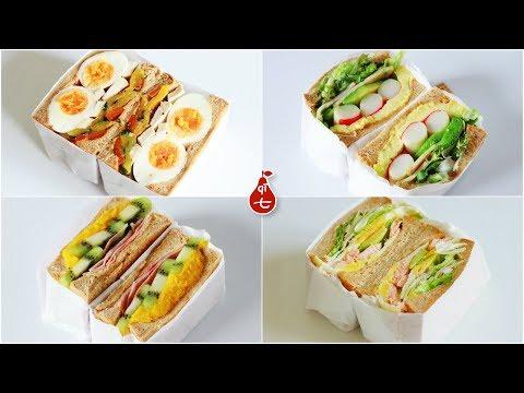 | Four Mega brunch sandwiches |  |