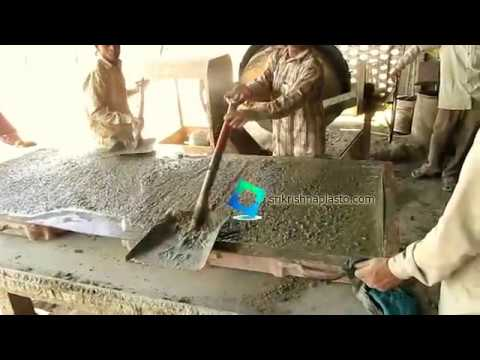How to make Precast Concrete Board / precast sign board with fiber mould