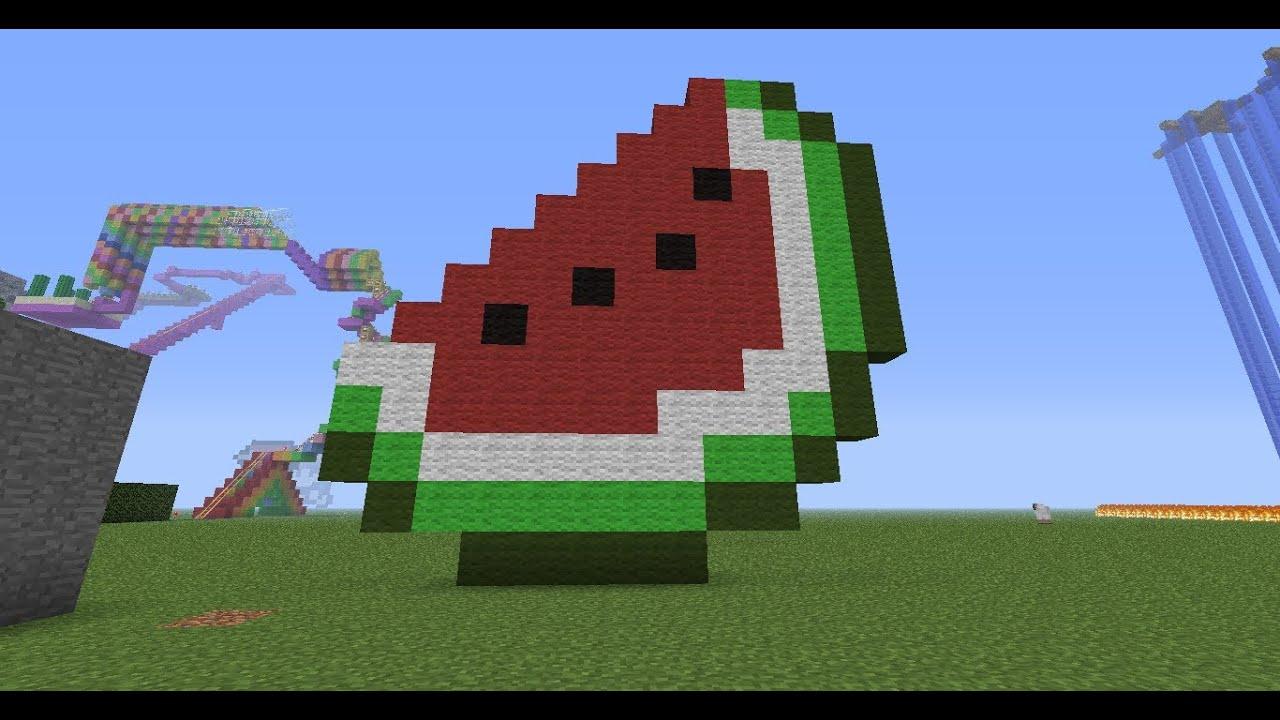 minecraft pixel art tutorial 35: watermelon - YouTube