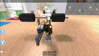 """Playing ROBLOX """"Fitness Gym"""" With My Sister"""