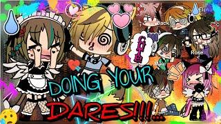 DOING YOUR DARES!! || (50+ Dares!!) - Gacha Life (Audio Fixed💫)
