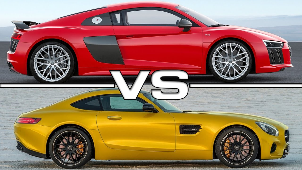 2016 Audi R8 V10 Plus vs 2016 Mercedes Amg GT - YouTube