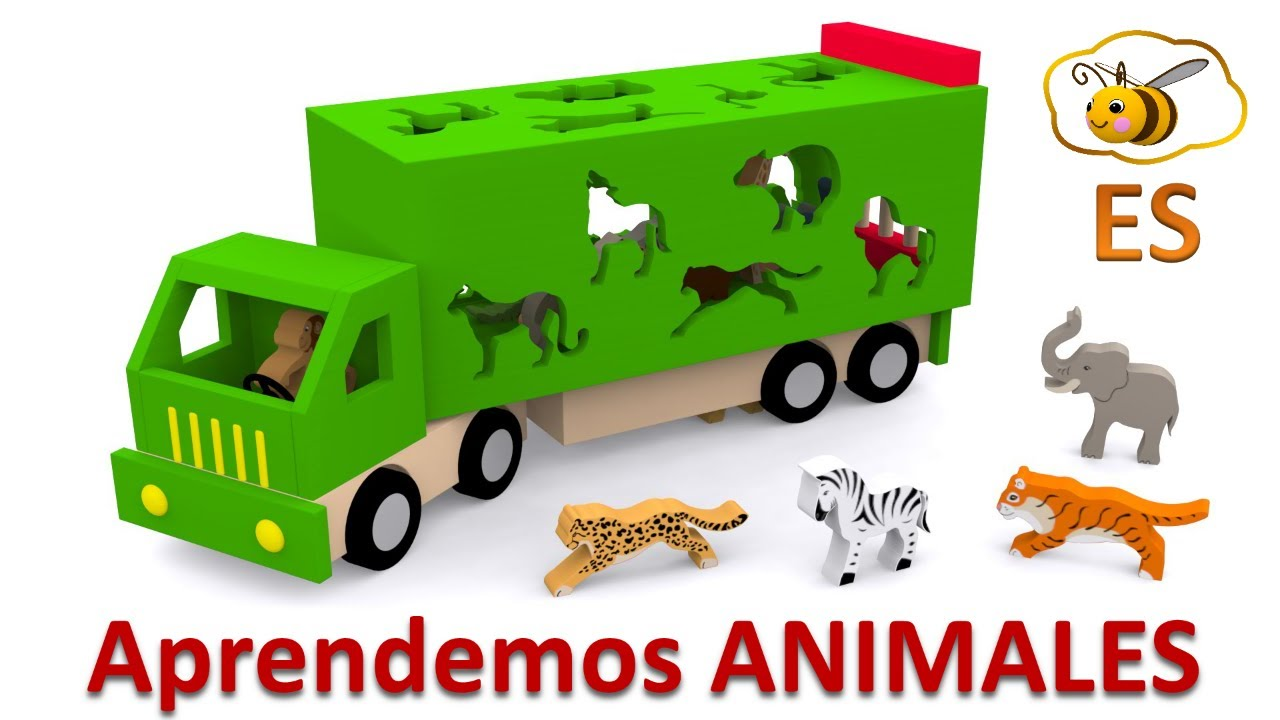 Los animales salvajes para niños. Dibujos animados educativos en ...