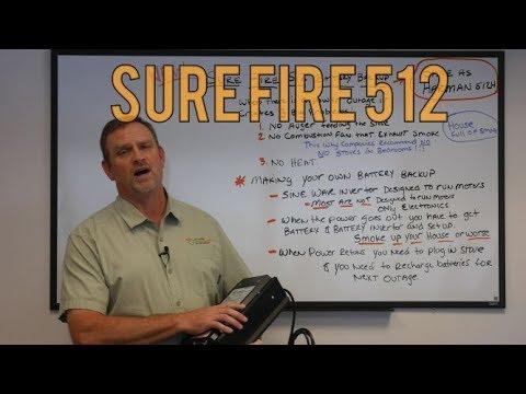 Surefire 512 512h New Pellet Stove Battery Backup