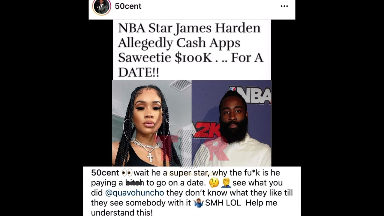 50 Cent Reacts To James Harden Allegedly Sending Saweetie ...