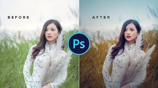 Outdoor Portrait Retouching with Photoshop New Version | Free Preset
