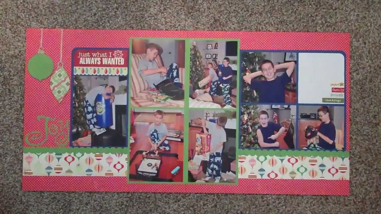 Double Page Scrapbook Layout Share Youtube