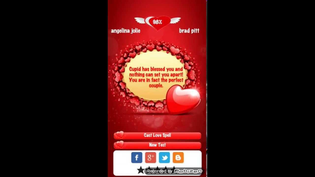 Cupid love test