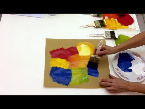 Quadro abstrato colorido