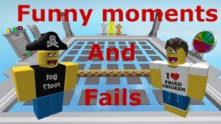 Roblox Plates of Fate, Funny moments lots of fails, glitches and rope brothers