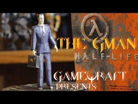 GAMEQRAFT PRESENTS - GMAN FIGURE - HANDMADE HALF LIFE MODEL ~ BRING GAMES TO LIFE! λλλ