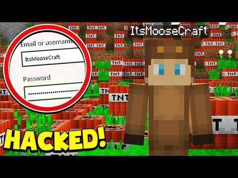 HACKING MOOSECRAFTS MINECRAFT ACCOUNT!