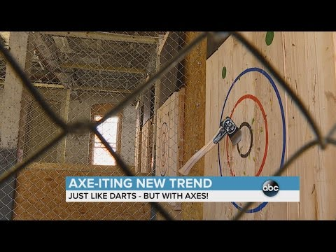 Axe Throwing: A New Trend | ABC News