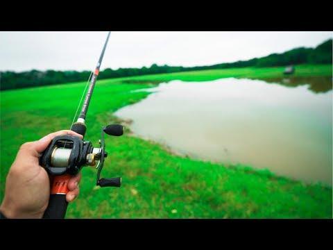 Fishing A TINY Pond For BIG Fish!!!