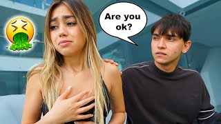 Throw Up PRANK On My BOYFRIEND TO See How He Reacts..