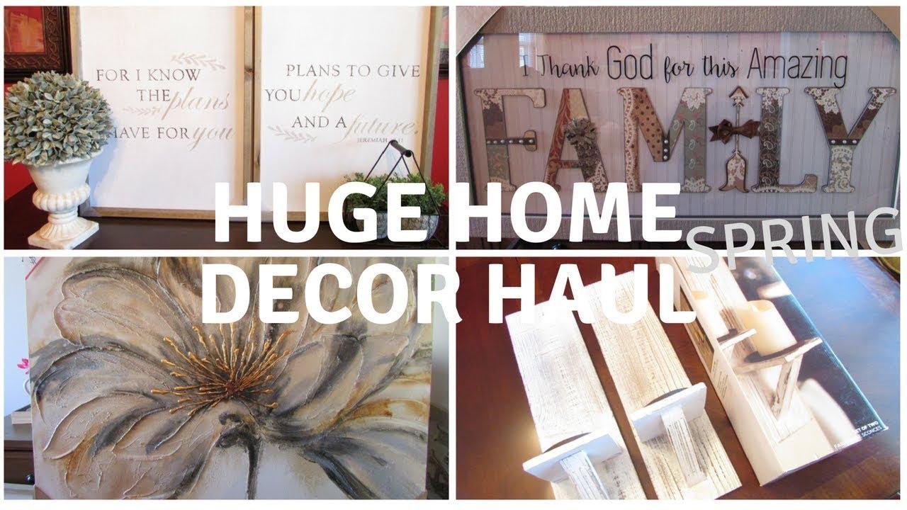 Spring HUGE Home Decor Haul ~ Kirklands, Hobby Lobby, Michaels U0026 Tuesday  Morning