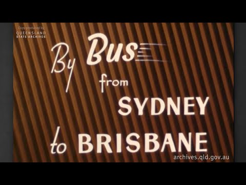By Bus From Sydney To Brisbane (1951) - Department Of Public Instruction Queensland