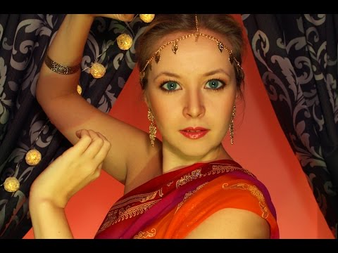 ASMR Indian SPA: Head massage with oils and meditation/asmr role play