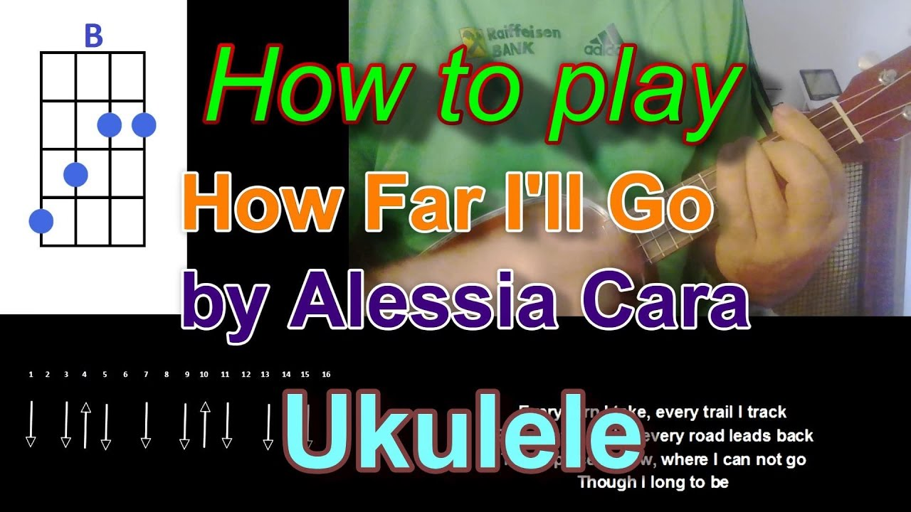 How to play how far ill go by alessia cara ukulele youtube hexwebz Gallery