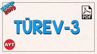 Toplamın - Çarpımın - Bölümün Türevi - 3  AYT Matematik