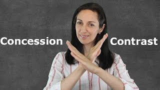 Linking Words of Contrast & Concession - English Grammar Lesson
