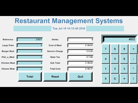 How to Create a GUI Restaurant Management Systems in Python - Full Tutorial