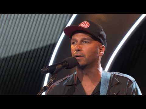 Tom Morello performs at the Teamsters Convention