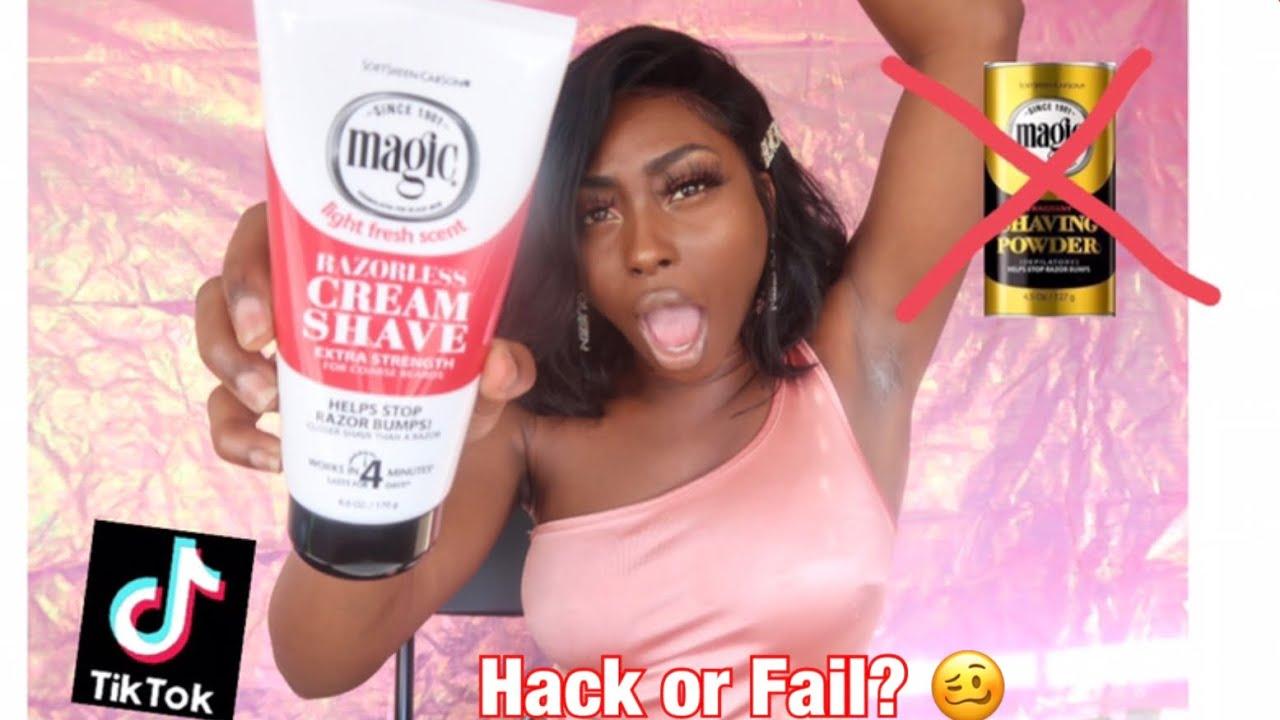 Magic Shaving CREAM ⁉️   Viral Tik Tok Hair Remover HACK ️ ...