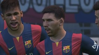Pro Evolution Soccer 2015 FC Barcelona Vs Real Sociedad PC Gameplay