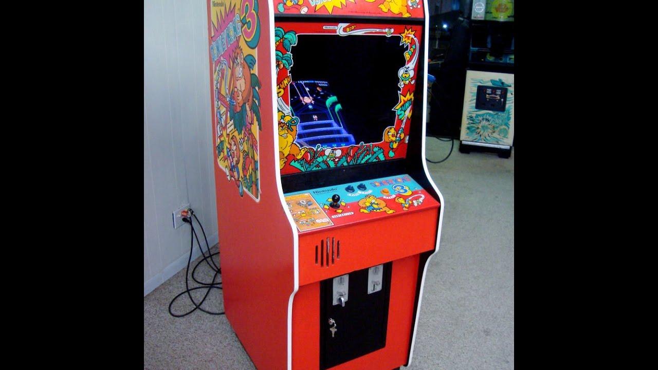Donkey Kong 3 In A Rare Nintendo Red Cabinet Radar Scope