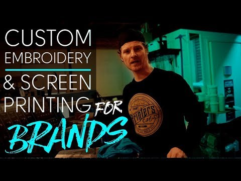 Custom Embroidery & Screen Printing For Brands - Brand Merch
