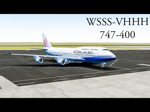[Around the Globe Series] Singapore to Hong Kong : China Airlines, 747-400 [Episode 13]