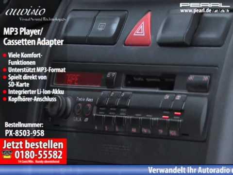 auvisio Kabelloser MP3-Player für Kassettenautoradio mit Fernbedienung
