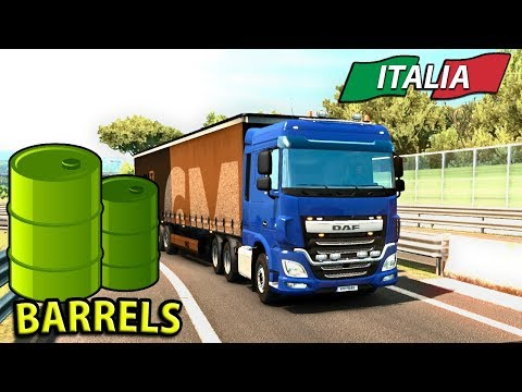 TAKING BARRELS THROUGH ITALY | ITALIA DLC Euro Truck Simulator 2 - Ep3