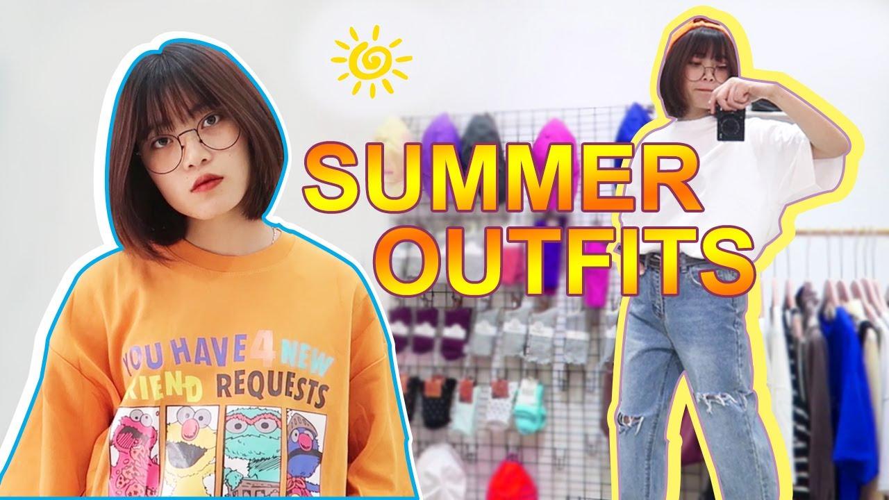 Summer Outfits | nấm lùn, chân to nên mặc như này | Yến Vi Vu