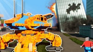 MECH BATTLE IN NEW LEGO CITY! - Brick Rigs Multiplayer Gameplay - Lego Mech Battle