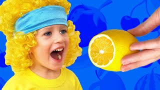 Yummy Fruits & Vegetables - funny kids song about healthy food. Lyrics: Do you like Lemon? Yeeep! Do you like Tomato? Yeeep! Let's eat them who's faster!