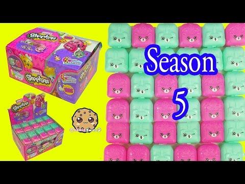 Shopkins Season 5 Mystery Surprise Petkins Blind Bag Full Box Unboxing - Cookieswirlc Video