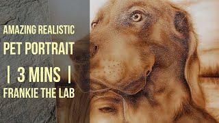 Amazing Custom Pet Portrait | Frankie The Black Labrador airbrush Art