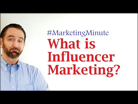 """Marketing Minute 055: """"What is Influencer Marketing?"""" (Marketing Strategy / Personal Branding)"""