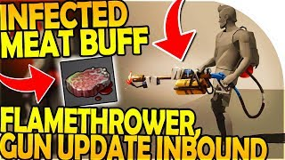 GUN UPDATE, FLAMETHROWER, INFECTED MEAT BUFF INBOUND - Last Day On Earth Survival Update 1.8.2