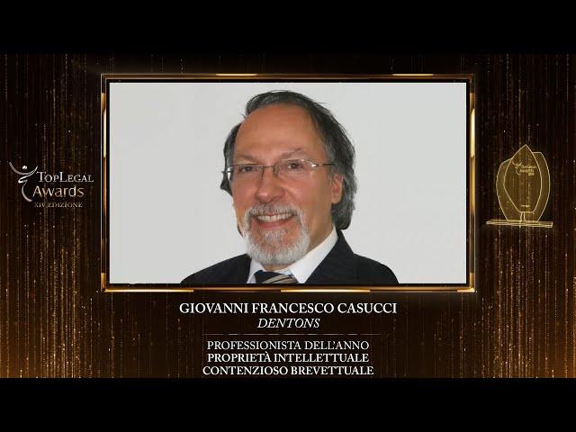 Giovanni Francesco Casucci, Dentons - TopLegal Awards 2020