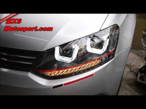V853 Projector Headlights Volkswagen Polo Vento With Matrix Mode By Mxsmotosport