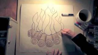 How to Draw a Fire - Addison Road - This Little Light of Mine