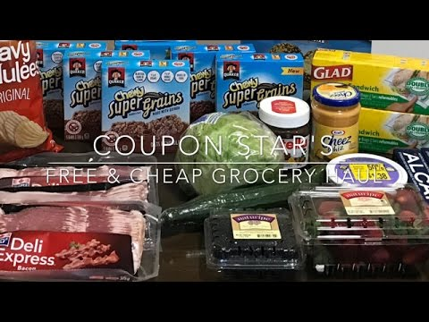 FREE & CHEAP GROCERY HAUL – March 31st 2017 – COUPONING IN CANADA!