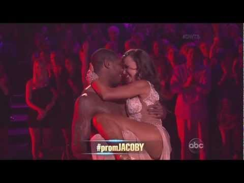 Karina Smirnoff & Jacoby Jones dancing Rumba on DWTS 4-1-13