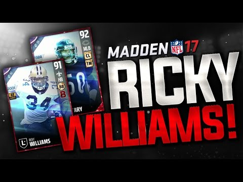 RICKY WILLIAMS and MIKE SINGLETARY - BRAND NEW LEGENDS in MADDEN 17 ULTIMATE TEAM!