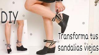 DIY Como RENOVAR TUS ZAPATOS VIEJOS / Tendencias de moda 2019 / Recycle old shoes